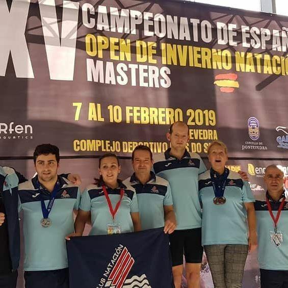 Tres Medallas para el Club Villa de Navia en el Nacional Máster de Natación