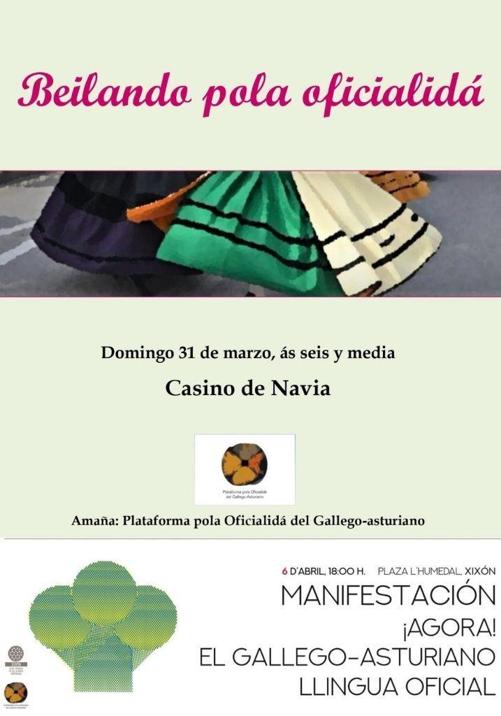 Música, baile y palabras pola oficialidá del gallego-asturiano