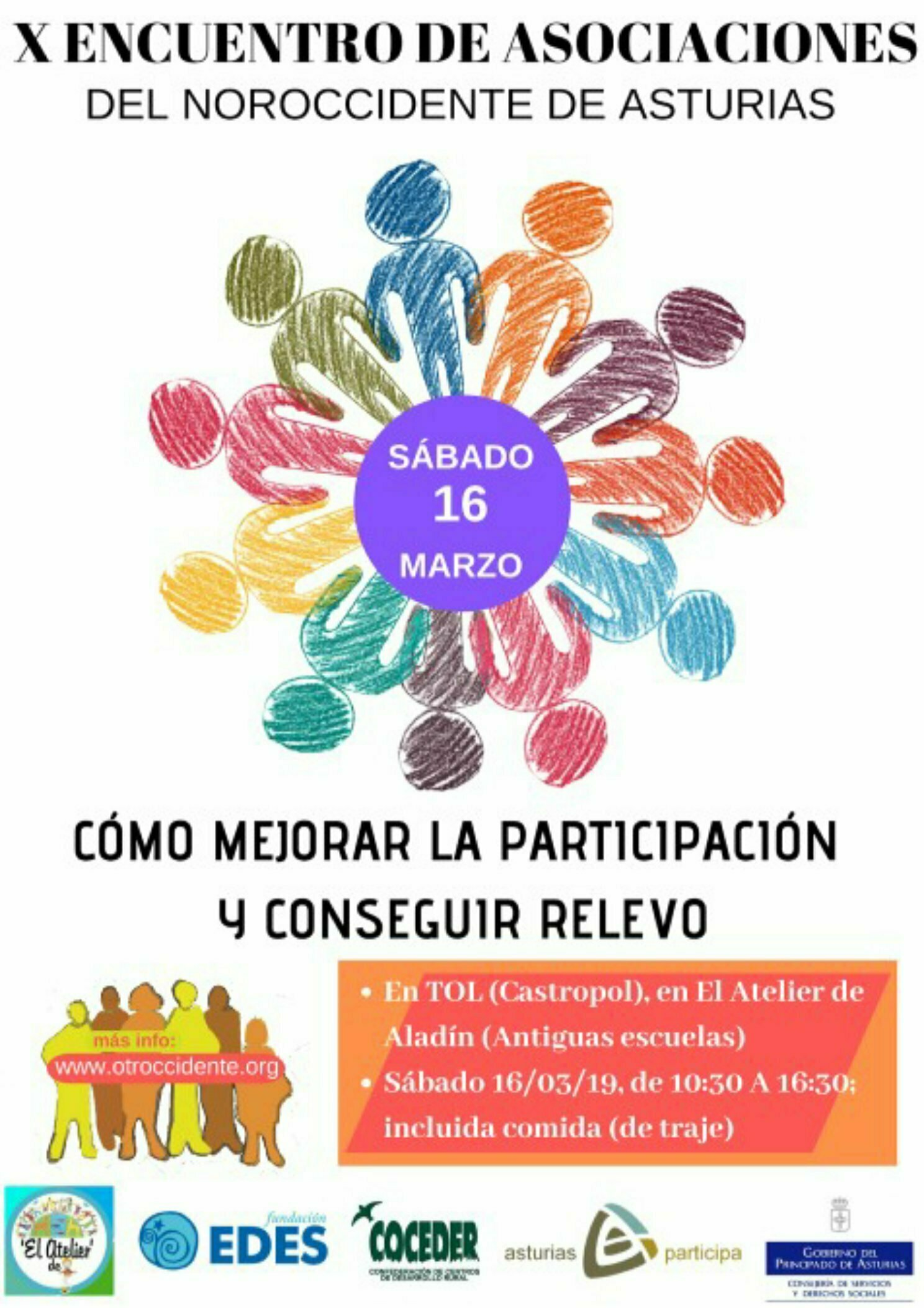 X Encuentro de Asociaciones del Noroccidente en Tol (Castropol), el 16 de marzo,