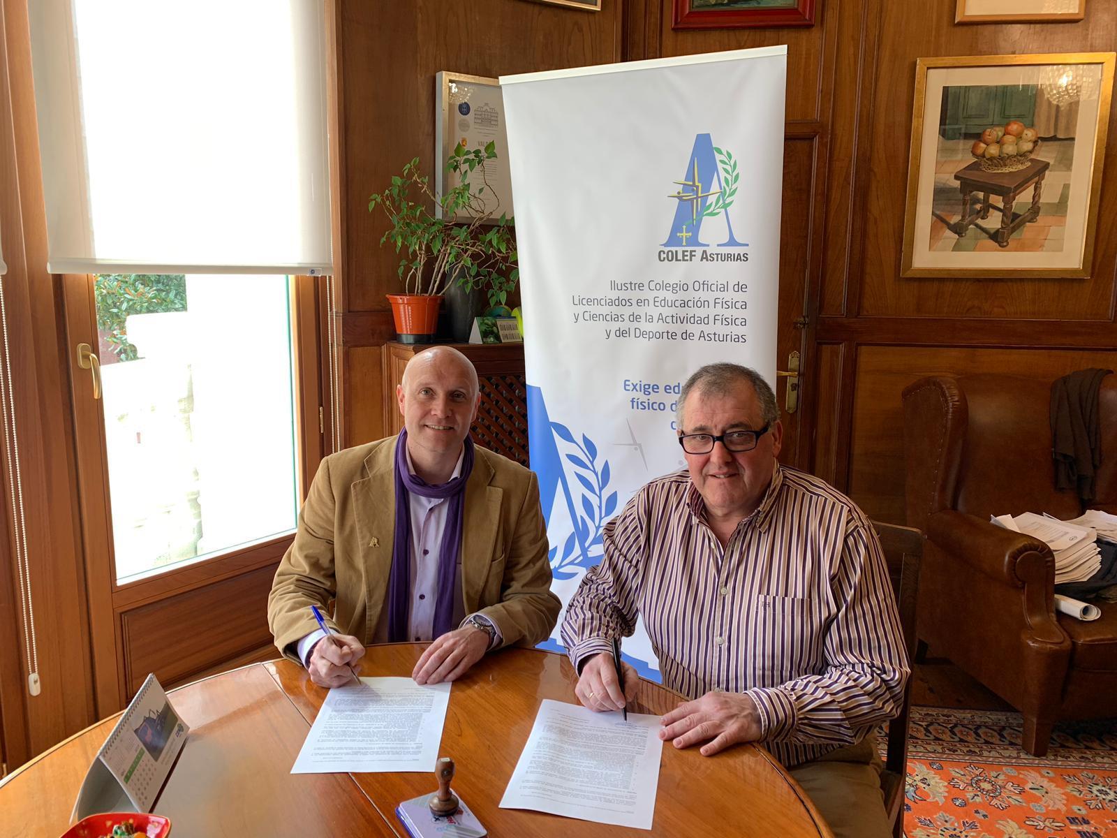 Firma del Convenio Colef y Ayuntamiento de Valdés para realizar actividades Físicas y Deportivas