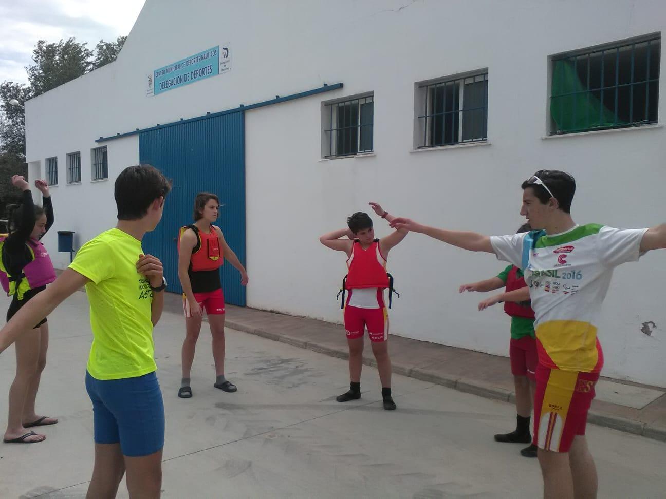 Los Palistas Naviegos ya se encuentran en Arcos de la Frontera para disputar el Campeonato de España de Jóvenes Promesas