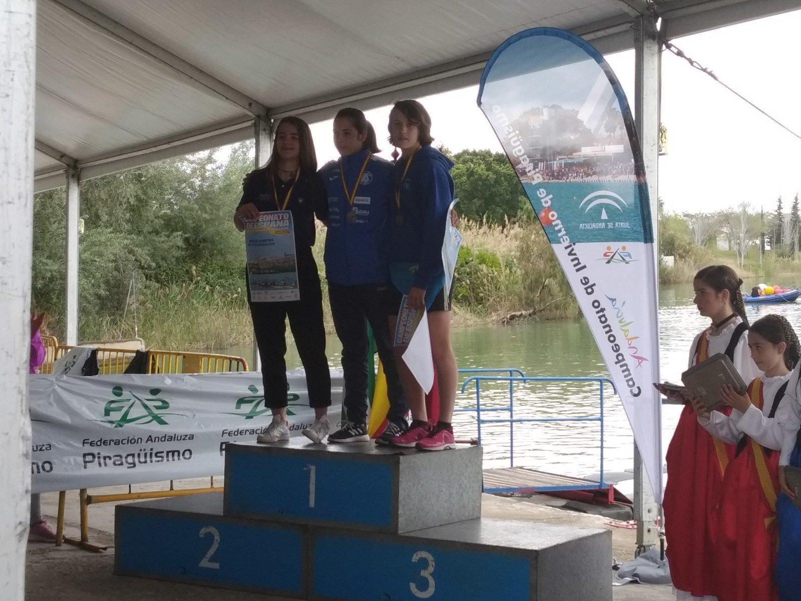 Lucia Val, Bronce en Cadete B, en el Campeonato de España de Jóvenes Promesas de Piragüismo