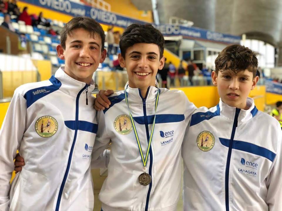 Nicolás García (CAO Navia), Plata en el Regional de Atletismo de Pista Cubierta