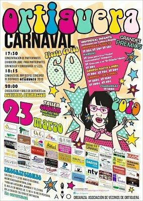 Ortiguera (Coaña), celebra este Sábado el Carnaval con un Concurso de Disfraces y Fiesta de los 60