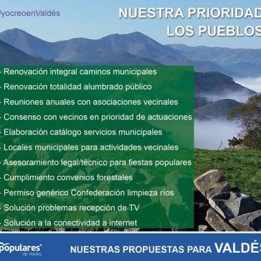 El PP de Valdés avanza más de 50 propuestas de su programa electoral