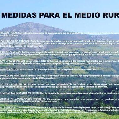 El PSOE de Valdés presenta un decálogo de medidas para la zona rural del municipio