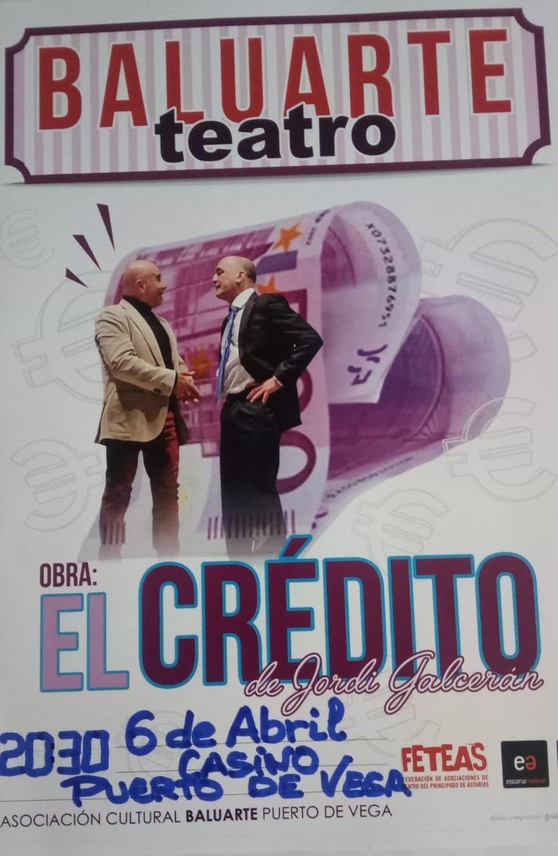 """Baluarte Teatro estrena """"El crédito"""" en Puerto de Vega"""