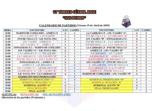 22 Equipos en XVII Torneo San Pedro de Fútbol Base que se disputa el Viernes Santo