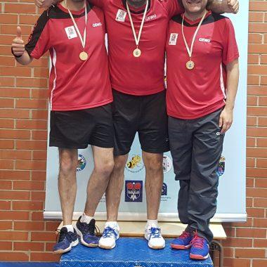 El Luarca Tenis Mesa, dominador también en Asturias en la categoría Veteranos+40 años con Cuatro Medallas