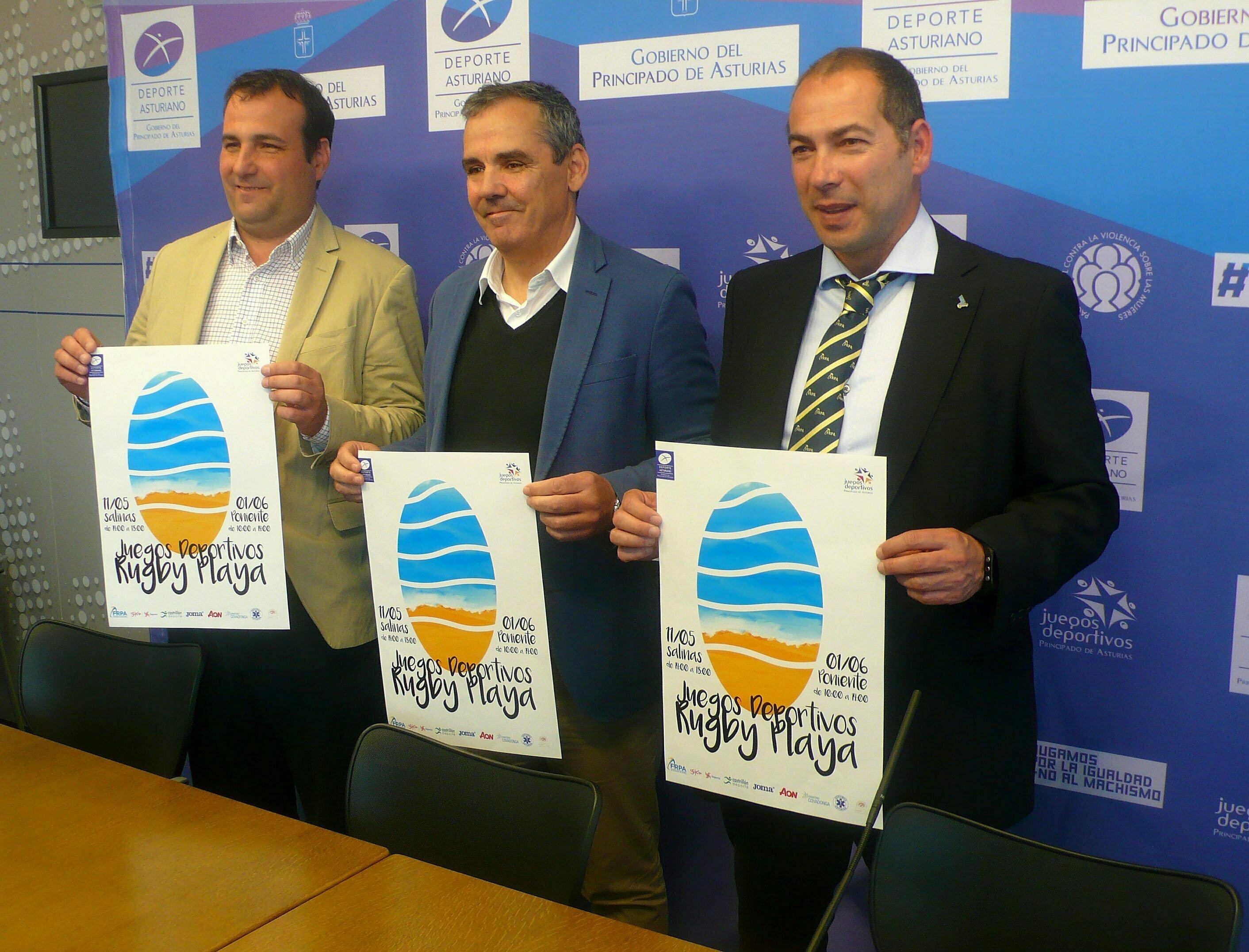 Presentación de los Juegos Deportivos de Rugby Playa que contarán con mas de 400 participantes