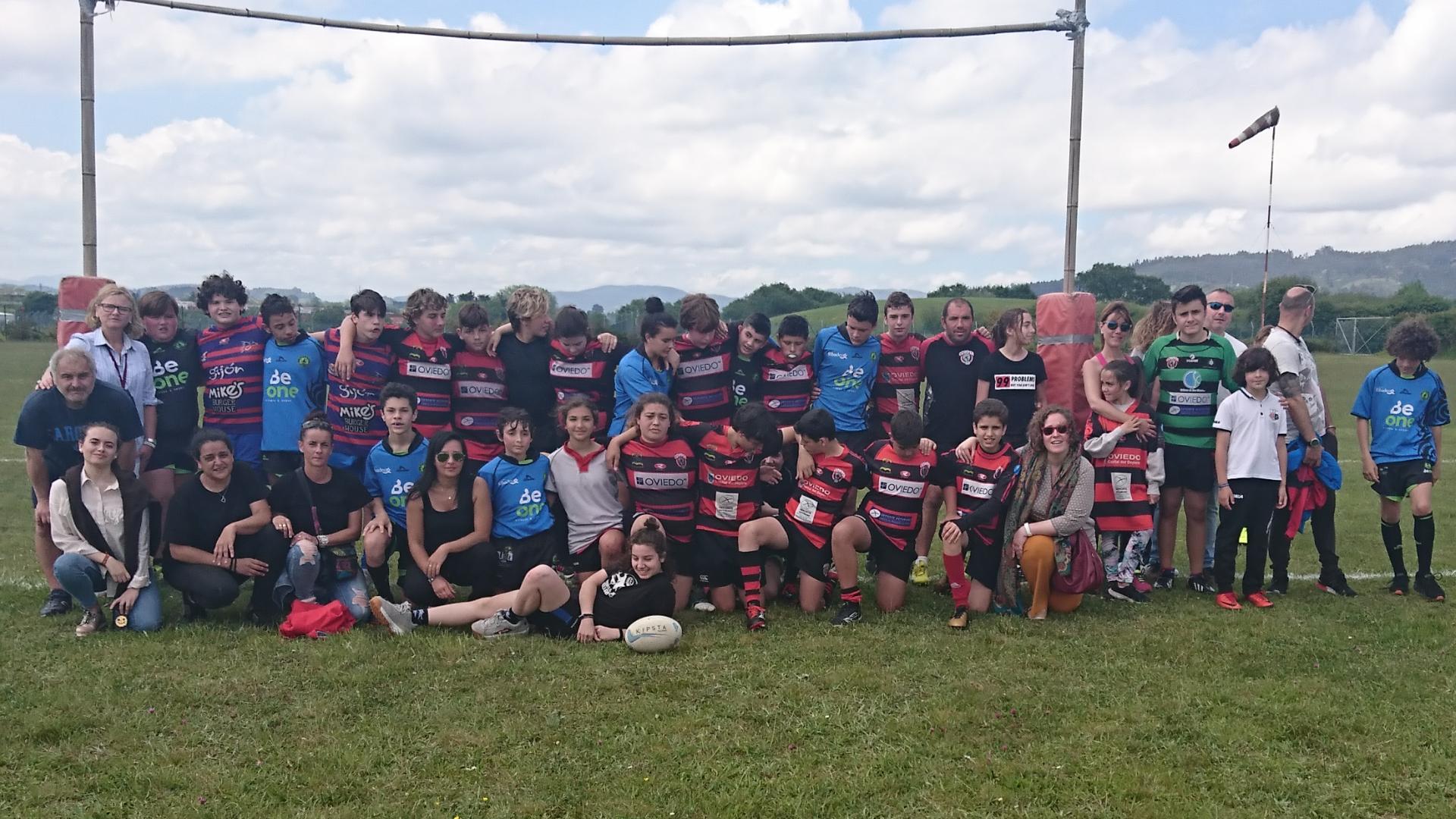 El Beone Rugby se desplazó con todos sus equipos al II Torneo Intercantábrico celebrado en Llanera