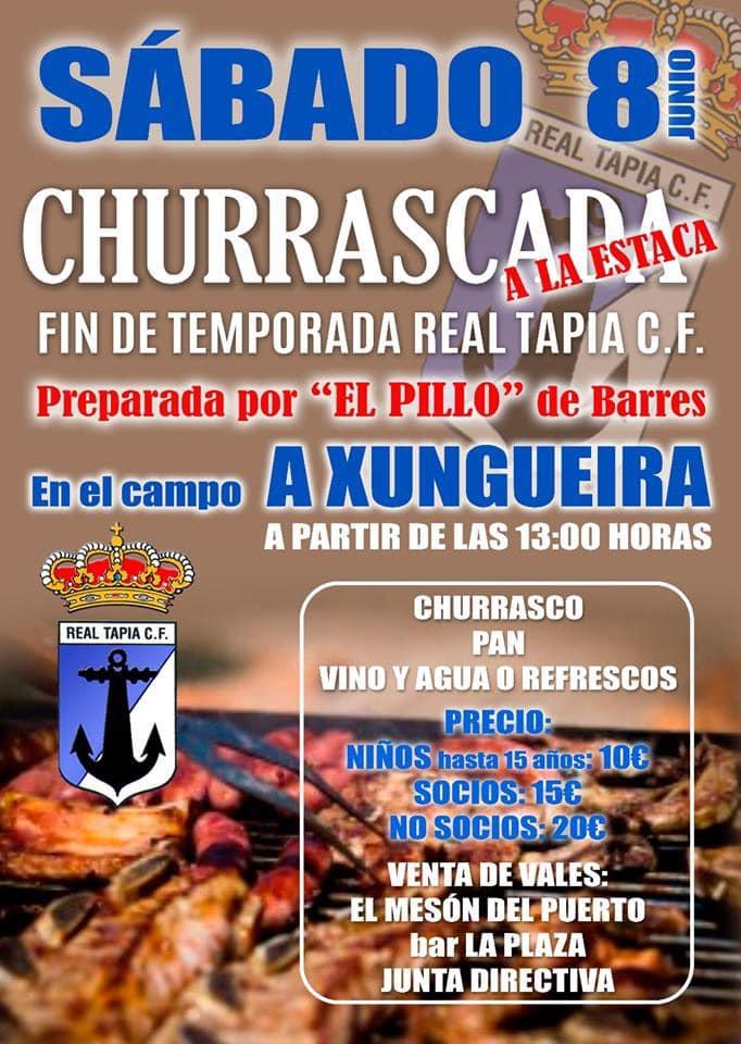 El Real Tapia celebrará el Fin de Temporada el sábado 8 de Junio con una Churrascada