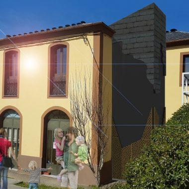 Obras para mejorar la accesibilidad de la escuela de Abres (CRA Ría del Eo)