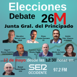 Este viernes, Debate Candidatos Circunscripción Occidental Junta General del Principado de Asturias