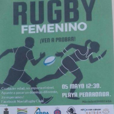 Pachanga del Navia Rugby Club este domingo en Peñarronda para promocionar el Rugby Femenino