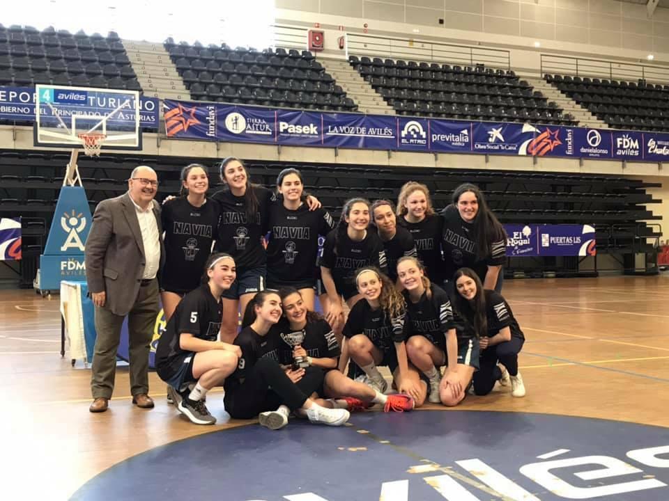 El CB Navia Junior Femenino inicia su participación en el Campeonato de España el domingo frente al Rivas Sureste de Madrid