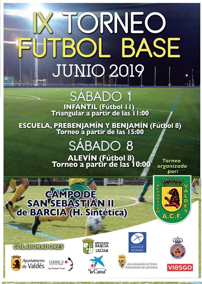 IX Torneo de Fútbol Base del Valdés ACF para Infantiles, Benjamines y Prebenjamines