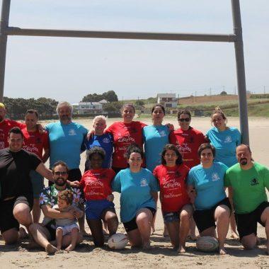 Quedada de Rugby en la Playa de Peñarronda organizada por el Navia Rugby Club