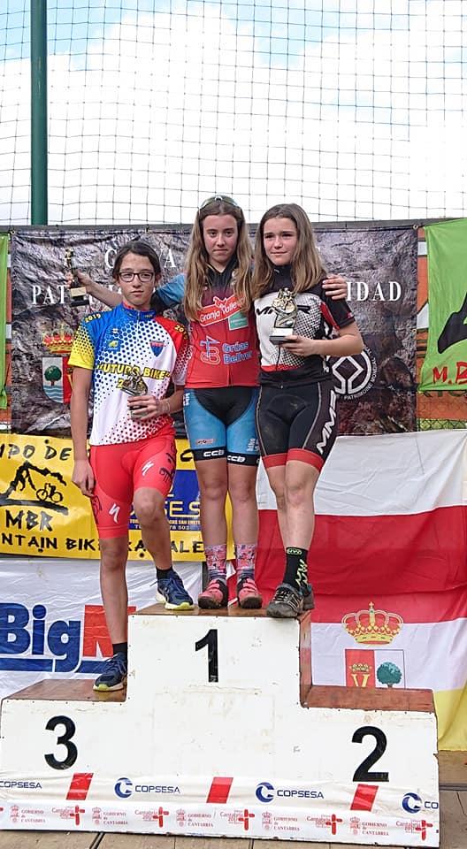 Carla Suárez (Castropol Deporte), Bronce en el XXVIII Open de Escuelas BTT de Ramales (Cantabria)