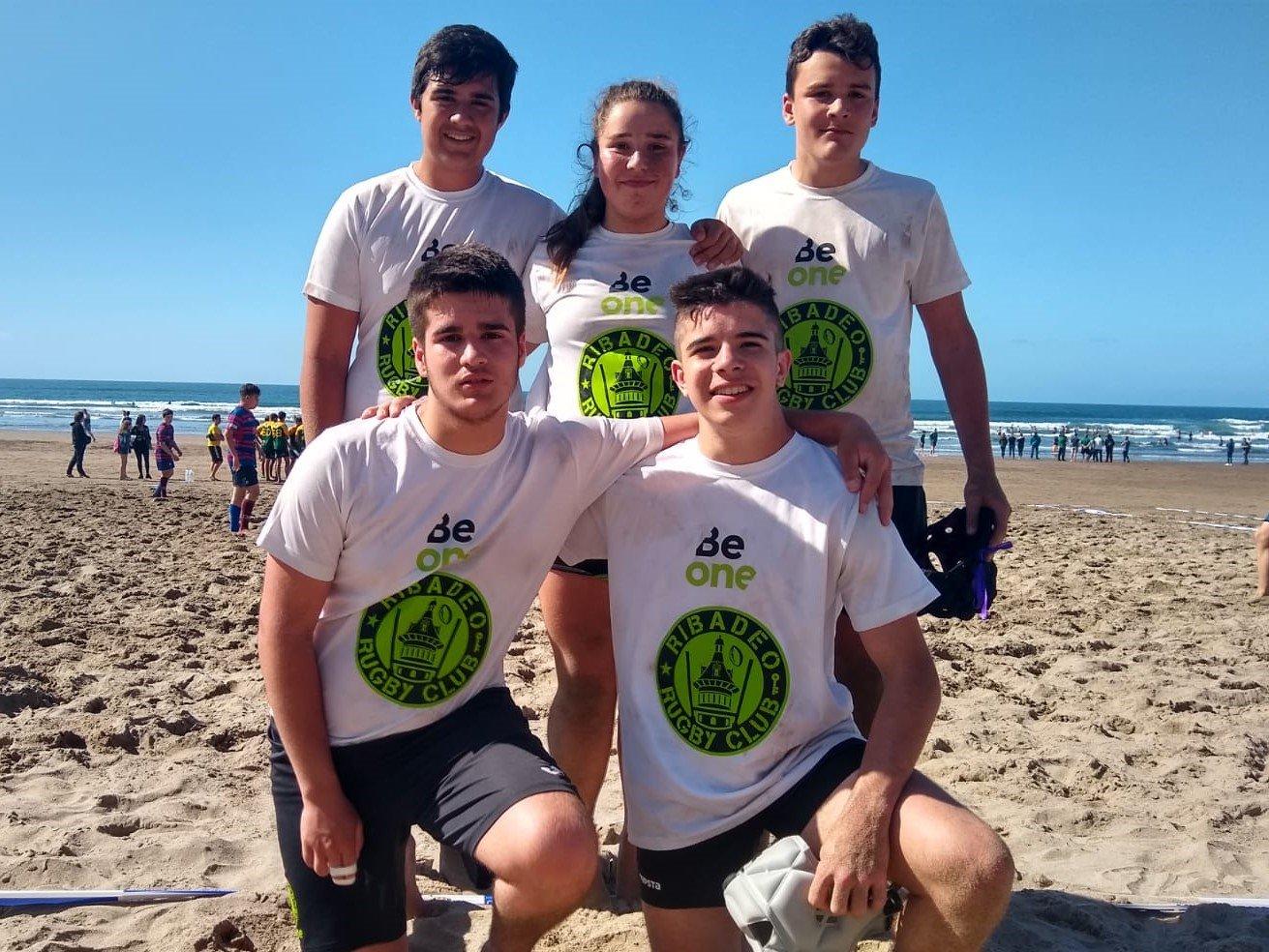 Jornada de Rugby Playa para el Beone Ribadeo donde los Sub-16 desplegaron buen juego