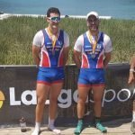 Los Vegadenses Iván Rico y Gonzalo Pérez (Remeros del Nalón), Subcampeones de España Absolutos de Remo Olímpico