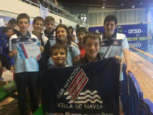 Bronce para Daniela Pérez (CN Villa de Navia), en el Campeonato de Asturias Alevín