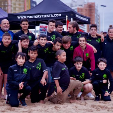 El Beone Ribadeo, participó en el XI Torneo de Rugby Playa del Grupo Covadonga de Gijón