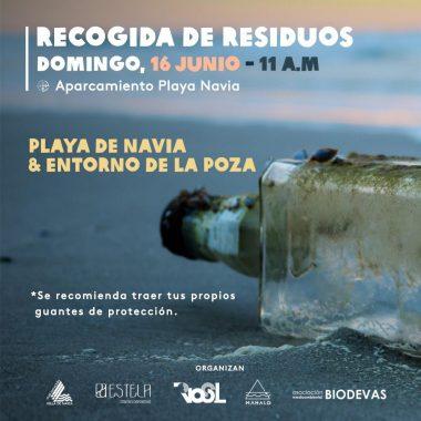 Quedada el próximo domingo para la Recogida de Residuos en la Playa de Navia