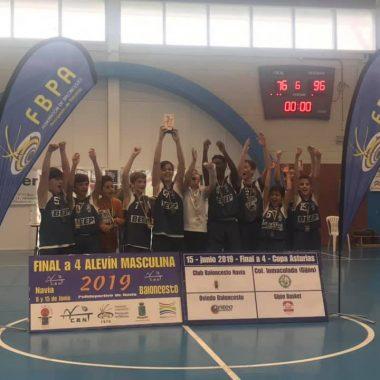 El CB Navia, Campeón de la Copa Asturias Alevín Masculino tras vencer en la Final al Oviedo CB