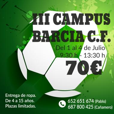III Campus del Barcia CF del 1 al 4 de julio