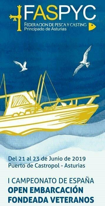 Nacional de Veteranos de Pesca Embarcación Fondeada en Castropol