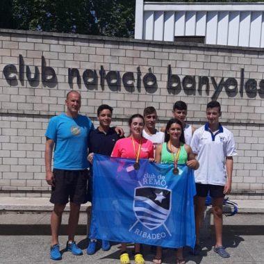 Bronce para Nerea Lago y María Cociña (Club Remo Ribadeo), en el Nacional de Remo Olímpico