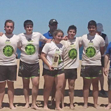 El Beone Ribadeo cierra su participación en los Juegos Deportivos de Rugby Playa con un Oro y un Bronce