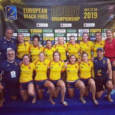 Bronce para la Ribadense Ana Sobrino, en el Europeo de Rugby Playa a Cinco