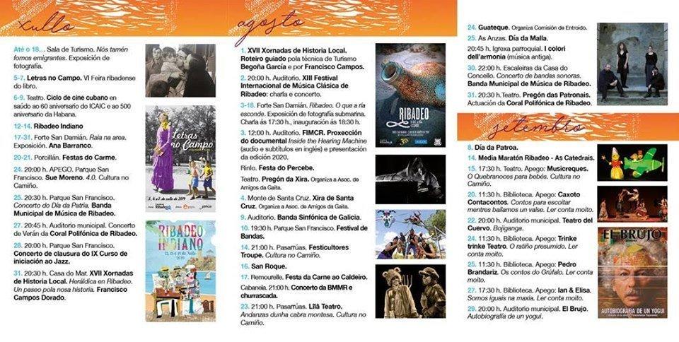 Variada  oferta del verano cultural de Ribadeo