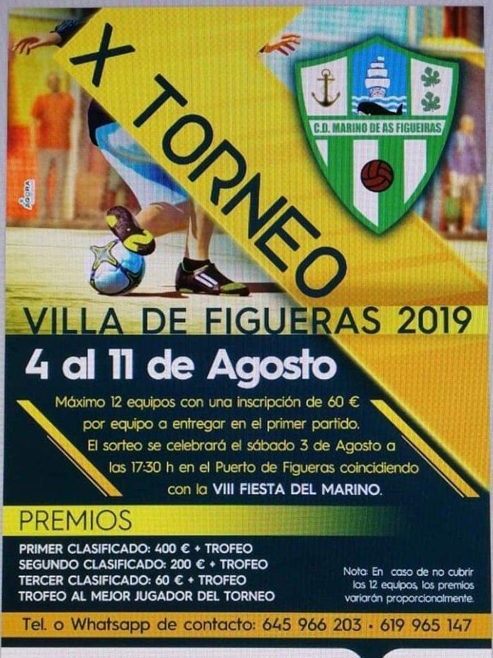 X Torneo de Fútbol Sala Villa de Figueras del 4 al 11 de Agosto