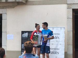 Triunfo de Miguel Areces y Sonia Menéndez, en los 5 Kms Villa de Luarca