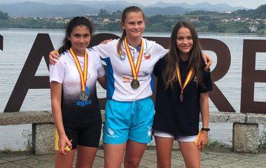 Laura González Alzú (Club Remeros del Eo), Subcampeona de España en Skiff Alevín Femenino