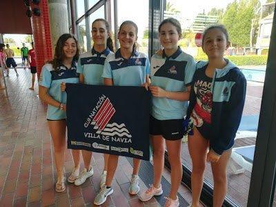 Las infantiles del CN Villa de Navia logran Seis Medallas (un oro, una plata y cuatro bronces), en el Campeonato de Asturias de Verano