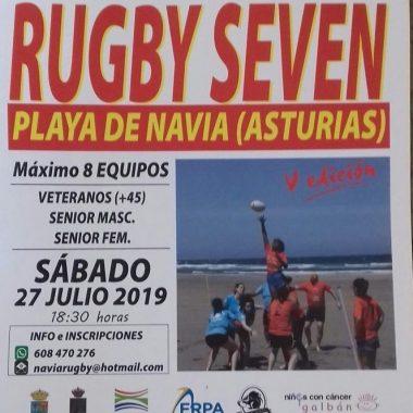 Torneo de Rugby Seven Playa de Navia el sábado a las 18:30 horas