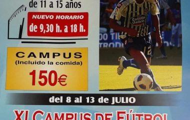 """XI Campus de Fútbol """"Saúl Fernández"""" en Trevías del 8 al 13 de Julio"""