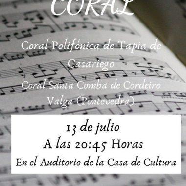 Encuentro Coral en Tapia el próximo sábado en el Auditorio de la Casa de Cultura