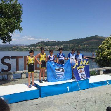 Cuatro Medallas para el Club Remo Ribadeo en el Campeonato Gallego de Remo Olímpico