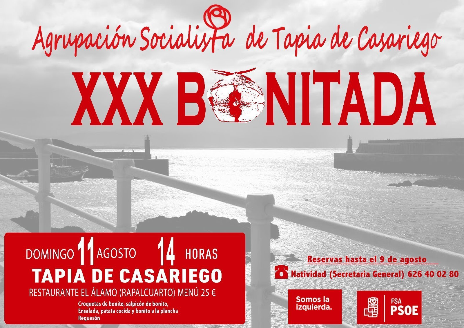 XXX Bonitada Socialista de Tapia de Casariego, el domingo 11 de agosto