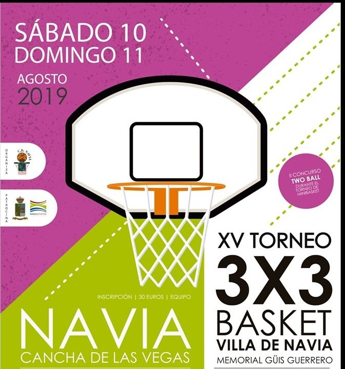 XV Torneo 3x3 de Basket Villa de Navia los días 10 y 11 de Agosto