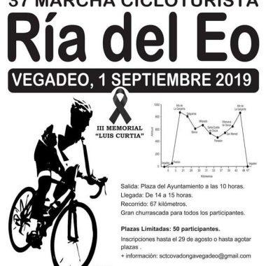 37ª Marcha Cicloturista Ría del Eo el domingo 1 de Septiembre en Vegadeo
