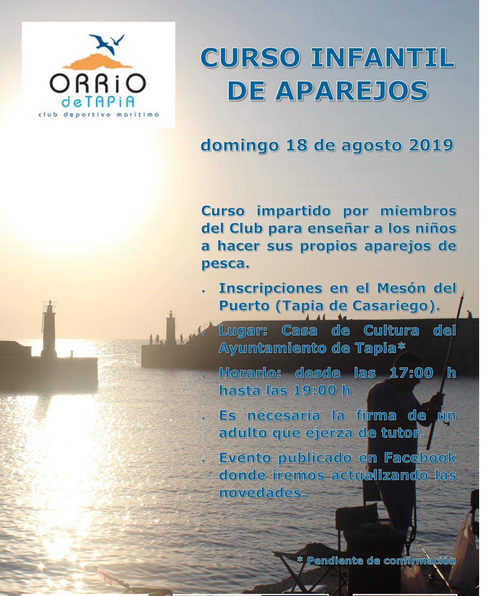 Curso Infantil de Aparejos en Tapia organizado por el Club Orrio