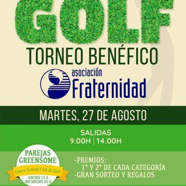 Torneo Benéfico de Golf en favor de la Asociación Fraternidad este martes en Cierro Grande