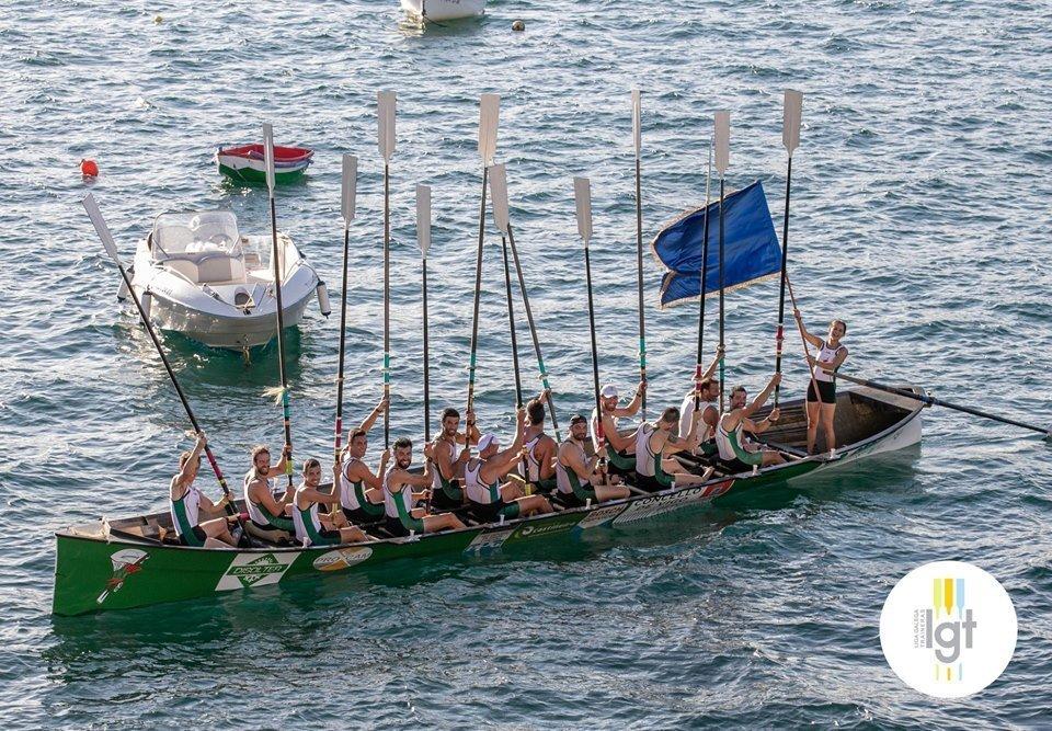 Coruxo vencedor de la XXXII Bandera Princesa de Asturias de Traineras