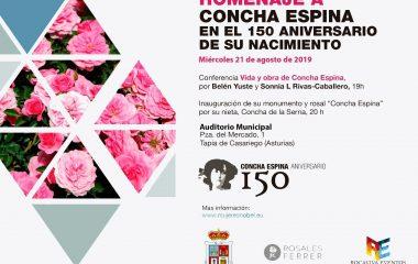 Tapia rinde homenaje a la escritora Concha Espina en el 150 aniversario de su nacimiento